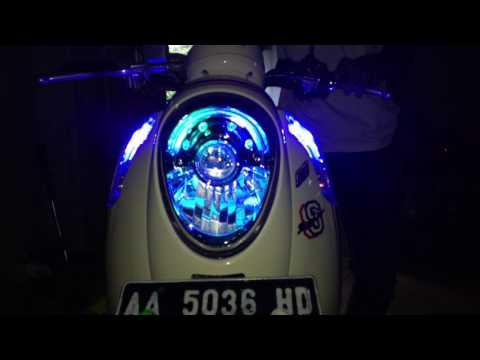 Video Lighting modifikasi HONDA SCOOPY FI