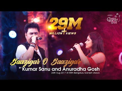 "Download ""Baazigar O Baazigar"" By Kumar Sanu And  Anuradha Gosh At 55th Bengaluru Ganesh Utsava HD Mp4 3GP Video and MP3"