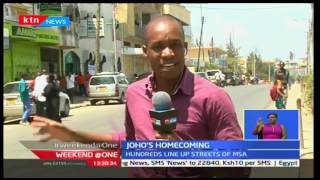 Hundreds line up in the streets of Mombasa to receive Governor Joho
