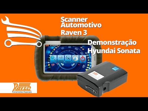 Scanner Automotivo Raven 3 com Tablet de 7 Pol. e Maleta - Video