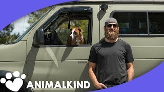 Former NFL player travels cross-country with his dog