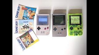 Game Boy Light VS. Modded Game Boy Pocket  Backlight, Bivert; Comparison