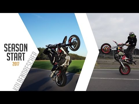 Season Start 2017 || Wheelies // Honda FMX 650 // Suzuki DRZ 400 || Kolbendrescher