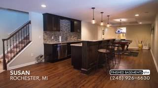 Beautiful Finished Basement Family Room in Rochester, MI | Customer Testimonial