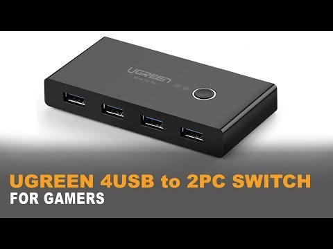 """♠ UGREEN 4 PORT USB 3 Sharing Switch 