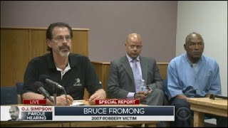 Victim Of Robbery Speaks At O.J. Simpson Parole Hearing