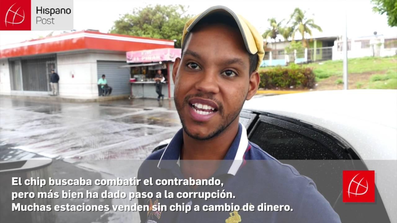 Colas para poner gasolina en Venezuela por sistema de control del chip