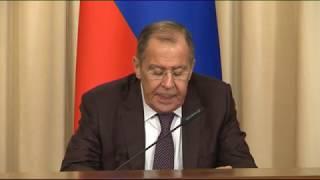 Пресс-конференция С.Лаврова и М.Лайчака