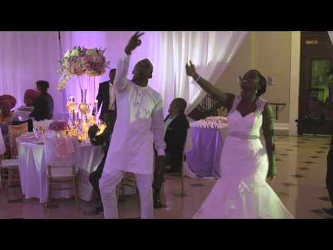 Video: Bride and brother impress guests with their dance moves