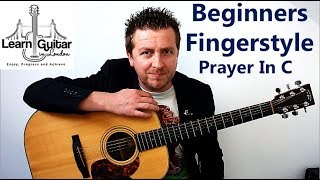 Easy Fingerstyle Guitar Lesson - Prayer In C - TAB In The Video - Drue James