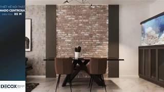 Mẫu thiết kế nội thất căn hộ Hado Centrosa 85m2 - Quận 10