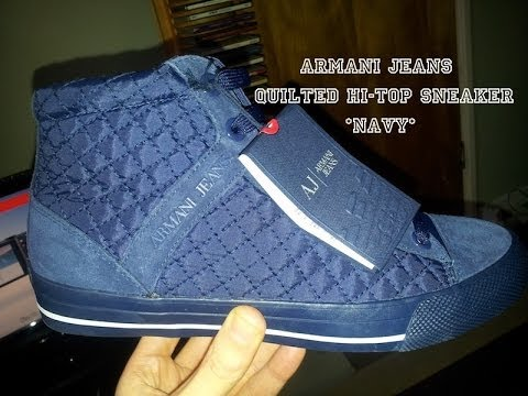 Armani Jeans **Navy Quilted Sneaker** //Authentic//