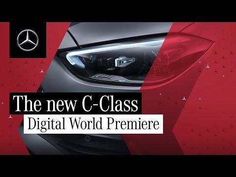 新型Cクラスを発表したメルセデス・ベンツの新型Cクラスセダン・Cクラスワゴンのワールドプレミア動画