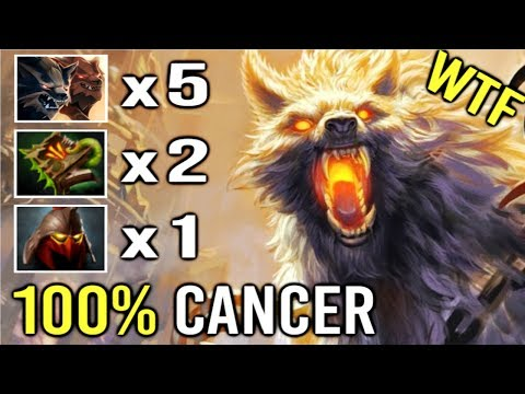 NEW STYLE 5x Wolves Pro Lycan vs HARD Counter Can't Defend One Man Army by Cije Top Rank 7.21 Dota 2