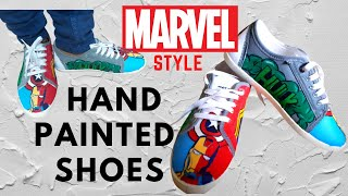 Hand Paint Your Superhero Shoes..... Marvel Style Hand-painted Shoes