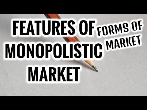 Features of MONOPOLISTIC MARKET- Forms of Market- Microeconomics
