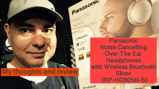 Panasonic Bluetooth Noise Cancelling Over the Ear Headphones  RP-HD805N-S