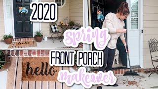 *NEW* Front Porch Makeover On A BUDGET | Spring 2020 | Small DIY Farmhouse Porch Decorating Ideas