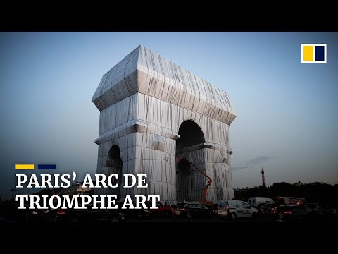The Arc De Triomphe gets Covered in the Name of Art