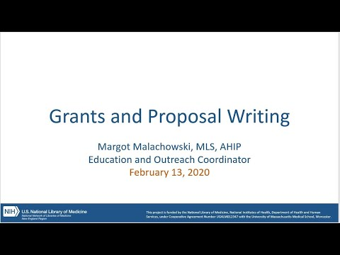 Grants and Proposal Writing, Feb 13, 2020