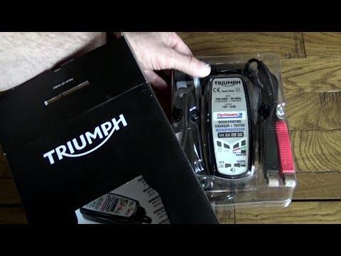 Triumph Bonneville T120, winter battery maintenance! The Triumph/Optimate 3 battery optimiser!