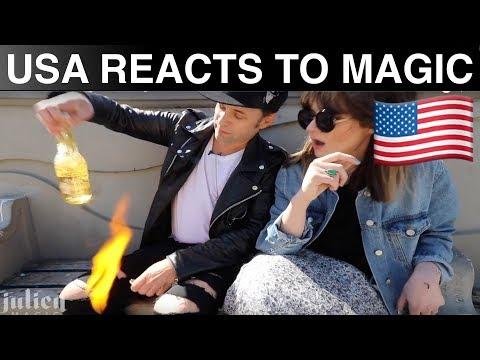 Americans React to Magic 🇺🇸-Julien Magic