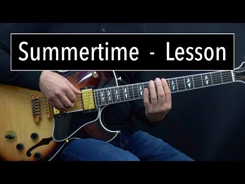 Summertime (Dm) Lesson - Easy & Advanced Jazz Guitar Lesson by Achim Kohl
