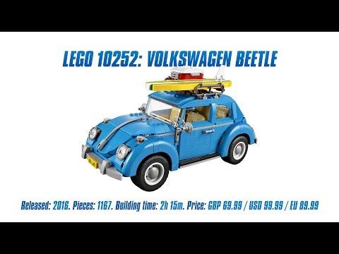 'LEGO Creator 10252: Volkswagen Beetle' Unboxing, Parts