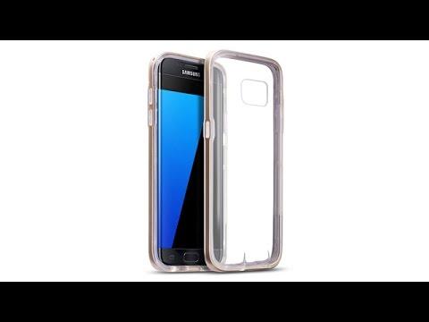 Samsung Galaxy S7 Edge Schutzhülle TPU Hülle + PC Bumper - Gold