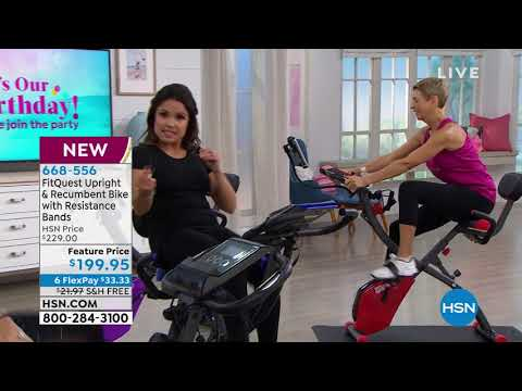 FitQuest Upright   Recumbent Bike with Resistance Bands