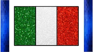 Draw Italy Flag Glitter Color for Kids | Italian flag | the National flag of Italy | Little Channel