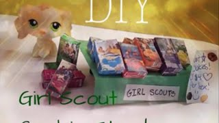 DIY LPS Girl Scout Cookie Booth   Doll Crafts