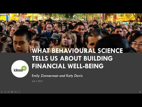 Insights to impact: What behavioural science tells us about building financial well-being