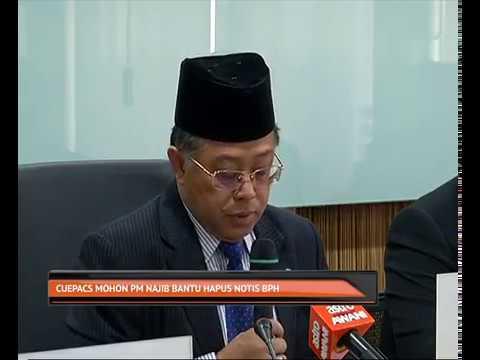 CUEPACS mohon PM Najib bantu hapus notis BPH