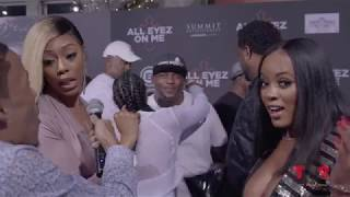 OOP! Bambi Throws SHADE At Basketball Wives Cast At The All Eyez On Me Premiere