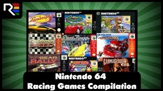 63 Games in 12 Minutes: N64 Racing Games Compilation