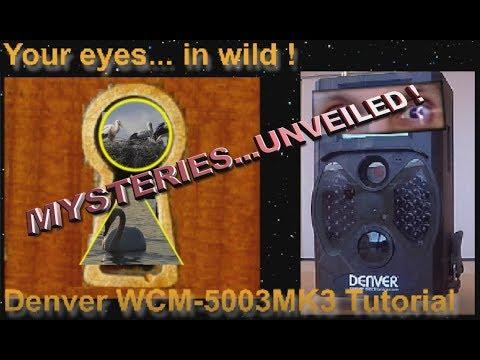 Trail Camera Wildlife DENVER WCM-5003MK3  Tutorial