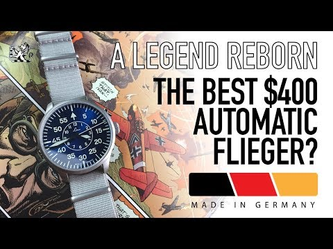 The Best German Made Automatic Pilot Watch Around $400? - Laco 39mm Aachen Blue Watch Review