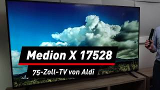 Medion X17528 mit 75 Zoll: Darf es etwas mehr sein?