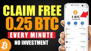 Earn FREE BITCOIN Every 5 MINUTES | EARN 0.25+ BTC DAILY | FREE BITCOIN SITES