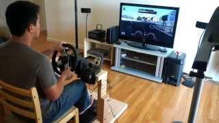 GT6 game play: The Best Homemade Logitech G27 Wheel Stand In The World