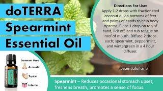 Refreshing doTERRA Spearmint Essential Oil Uses