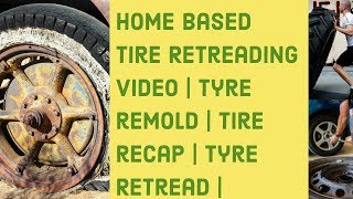 preview picture of video 'Truck tyre retreading in Progress'