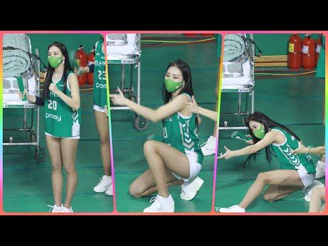 [4K] 치어리더 차영현 직캠 (cheerleader) - 3/4쿼터 응원 모음 @남자농구(원주DB)/210…
