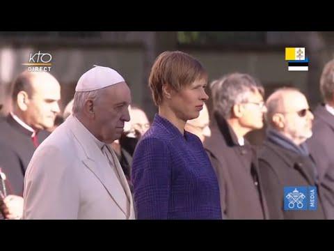 Cérémonie de Bienvenue du pape François en Estonie
