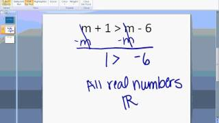 No Solution and All Real Numbers Inequalities