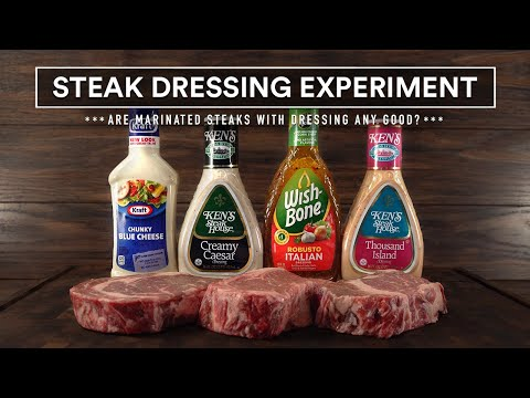 Sous Vide DRESSING EXPERIMENT | Steaks Marinade with Salad Dressing