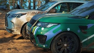 BWT LEXUS LX 570 vs AcademeG Range Rover SVR на Off road