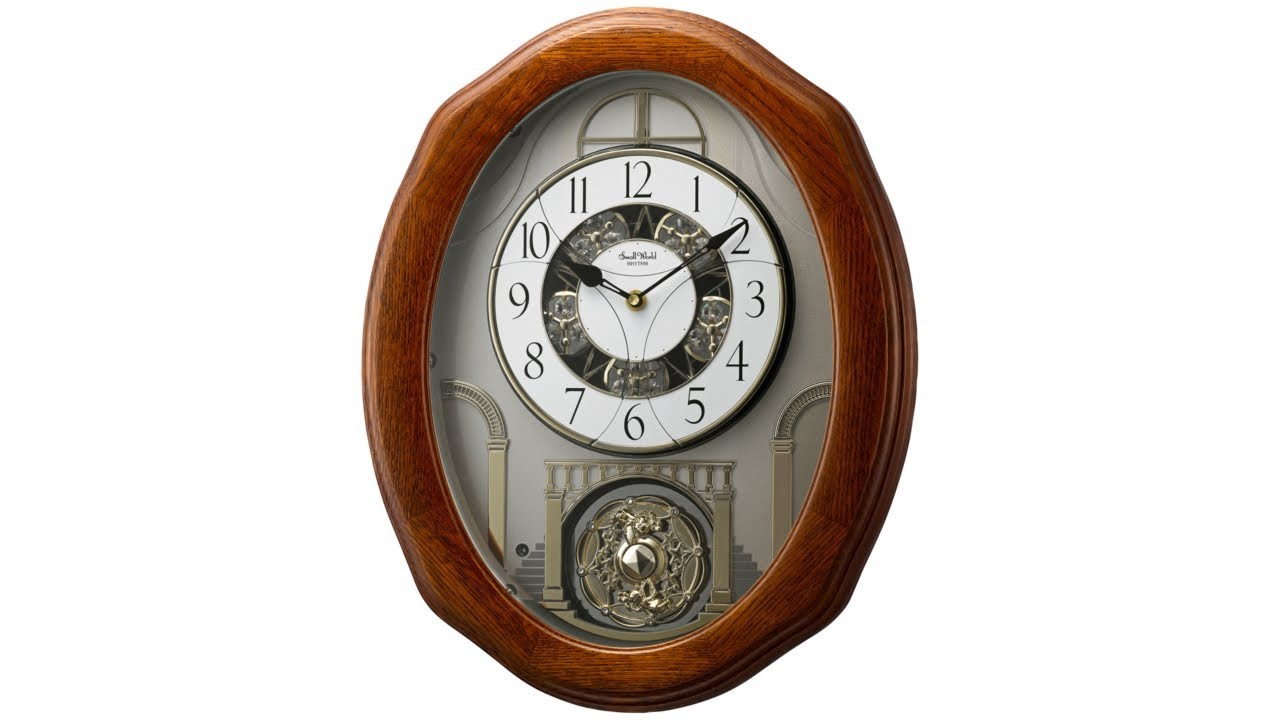 "Glory 19 3/4"" High Musical Motion Wall Clock"