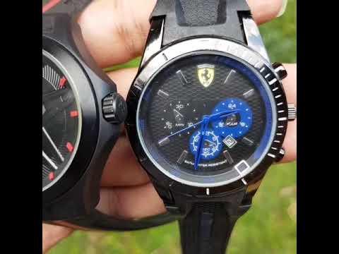 Jam Tangan Ferrari Tanggal Aktif  Harga Satuan @85rb Grosir @70rb  Garansi 1 minggu Ganti Baru
